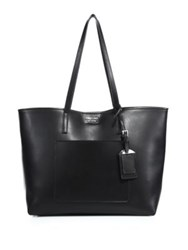 Prada City Leather Tote Navy White Black