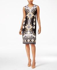 Jm Collection Petite Printed Sheath Dress Only At Macy's Governor Scroll