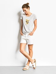 Hush Frayed Denim Shorts White