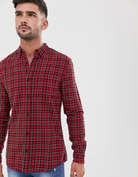 New Look Shirt In Red Check