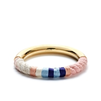 J.Crew Braided Cotton Cord Bracelet Light Mauve