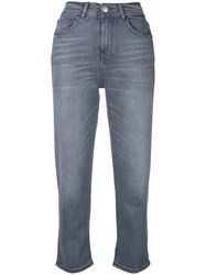 Haikure Straight Cropped Jeans Grey