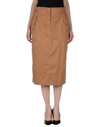 Henry Cotton's Skirts 3 4 Length Skirts Women Camel