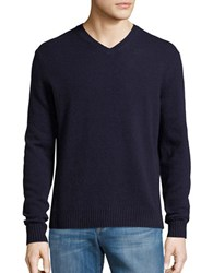 Black Brown V Neck Sweater Dark Navy