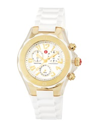 Michele Tahitian Jelly Bean Watch White Gold Silver