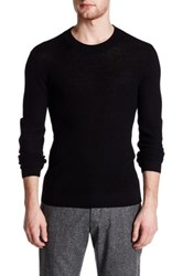 Atm Anthony Thomas Melillo Felt Elbow Patch Wool Pullover Black