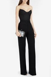Marco De Vincenzo Button Detail Wide Leg Trousers Black