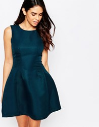 Ax Paris Skater Dress Teal Green