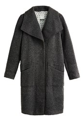 Sandwich Long Wool Blend Coat Grey