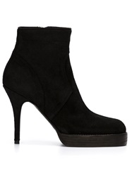Rick Owens Stiletto Heel Ankle Boots Black