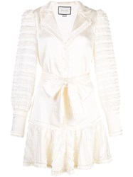 Alexis Belted Shirt Dress White
