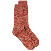 Norse Projects Bjarki Blend Sock Red