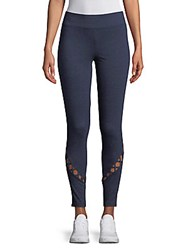 Andrew Marc New York Casual Cutout Leggings Navy