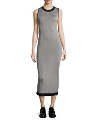 Rag And Bone Rag And Bone Lelia Sleeveless Body Conscious Midi Dress Black