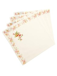 D'ascoli Set Of Four Garden Floral Print Napkins Pink Multi