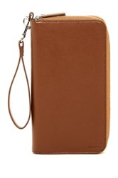 Cole Haan Zip Around Leather Wallet Brown