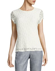 Karl Lagerfeld Lace Cap Sleeve Top