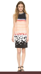 Mother Of Pearl Elia Sleeveless Shift Dress Salmon Daisy