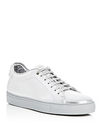 Paul Smith Basso Metallic Lace Up Sneakers Silver