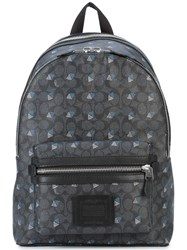 Coach Diamond Print Academy Backpack Grey