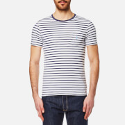 Polo Ralph Lauren Men's Pocket T Shirt White Stripe