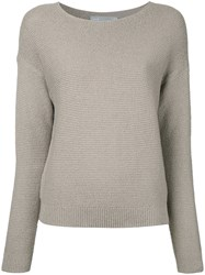 Vince Loose Fit Ribbed Jumper Nude Neutrals