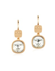 Rebecca Candy 18 Kt Yellow Gold Over Bronze White Earrings