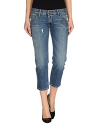 Hollywood Milano Denim Capris Blue