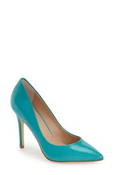 Women's Charles By Charles David 'Pact' Pump Sea Green Leather