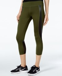 Jessica Simpson The Warm Up Juniors' Cropped Leggings Only At Macy's Rifle Green