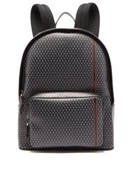 Dunhill Engine Turn Technical Canvas Backpack Grey