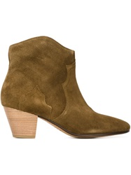 Isabel Marant 'Dicker' Ankle Boots Green