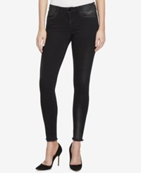 William Rast Metallic Skinny Jeans Black