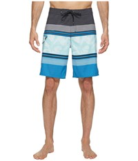 Vans Bonsai Stripe Stretch Boardshorts 20 Imperial Blue Men's Swimwear Multi