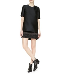 Stella Mccartney Mod Short Sleeve Fringe Bottom Dress