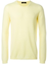 Roberto Collina Ribbed Trim Jumper Yellow Orange