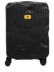Crash Baggage 40L 4 Wheel Stripe Carry On Trolley Black