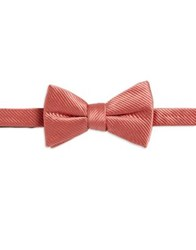 Paper Crown Textured Silk And Cotton Bow Tie Peach