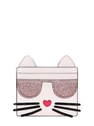 Karl Lagerfeld K Kocktail Cat Faux Leather Card Holder