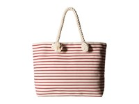 Hat Attack Perfect Canvas Beach Tote Red Stripe Tote Handbags