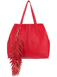 P.A.R.O.S.H. Fringed Oversized Shopping Bag Red