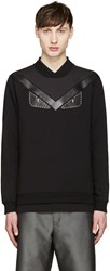Fendi Black Studded Monster Eyes Pullover