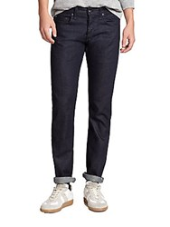 Rag And Bone Standard Issue Fit 3 Slim Straight Leg Jeans Blue