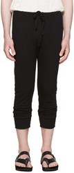 Haider Ackermann Black Long John Lounge Pants