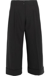 Michael Kors Collection Pleated Wool Culottes Black