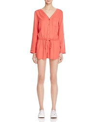 On The Road Montego Romper Hot Coral
