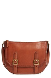 Frye Claude Leather Crossbody Bag Brown Whiskey