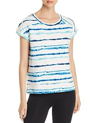 Marc New York Performance Printed Lace Up Sweatshirt Clear Water Tie Dye