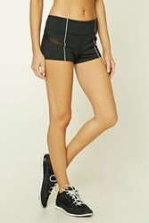 Forever 21 Active Mesh Panel Shorts Black Silver