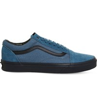 Vans Old Skool Canvas And Suede Trainers Blue Parisian Night